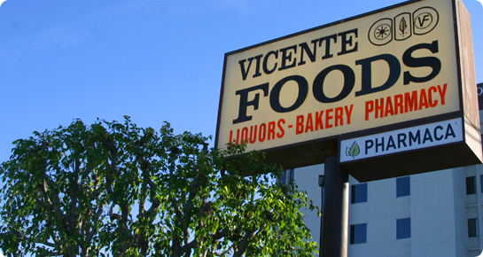 Vicente Foods Street Sign