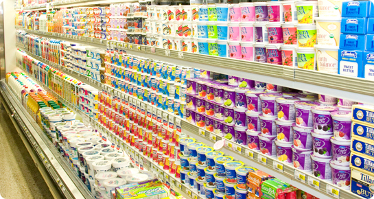 National Brand Yogurts and more.