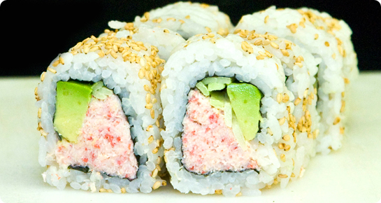 Sushi Crab and Avacado Rolls